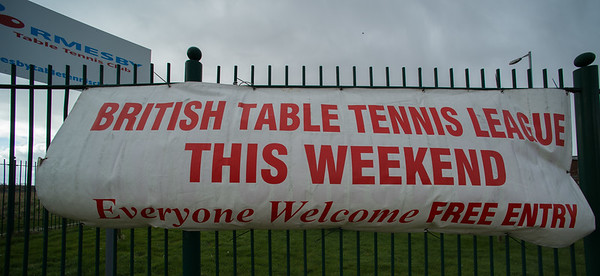 British Table Tennis League This Weekend, Everyone Welcome, Free Entry