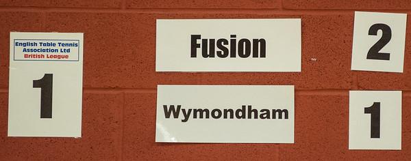 Match on table 1: Fusion vs Wymondham
