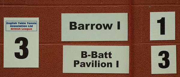 Match on table 3: Barrow I vs B-Batt Pavilion I