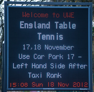 Table tennis gets the billboard treatment at the UWE!