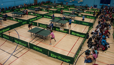 WBL used 17 courts, equipment provided by Bribar Table Tennis (www.bribartt.co.uk)