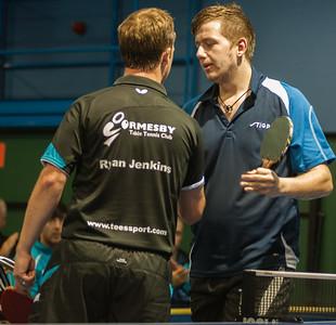 Ryan Jenkins congratulates Tobias Bergman on a fine victory!