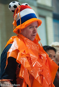 Support for the Dutch players was very orange