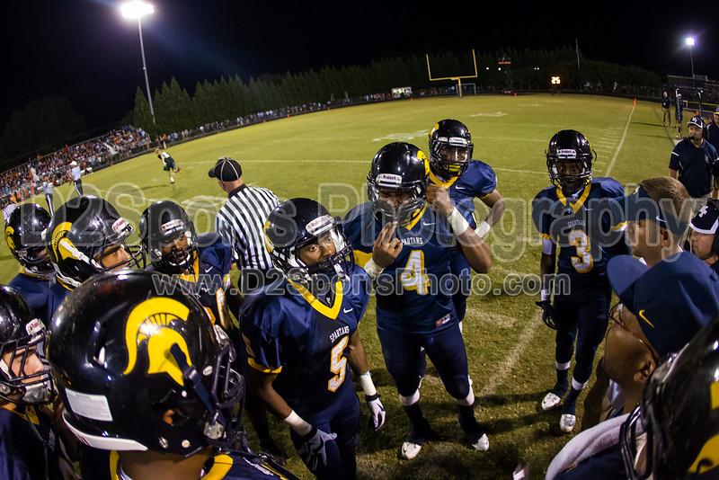 Mt Tabor Spartans vs N Davidson Black Knights Varsity Football<br /> Friday, September 27, 2013 at Mt Tabor High School<br /> Winston-Salem, North Carolina<br /> (file 211855_BV0H0411_1D4)