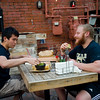 "Bryan Lee (left) and Josh Gewirtz enjoy dinner at T/ACO in Boulder on Thursday.<br /> For more photos go to  <a href=""http://www.dailycamera.com"">http://www.dailycamera.com</a><br /> (Autumn Parry/Staff Photographer)<br /> May 18, 2016"