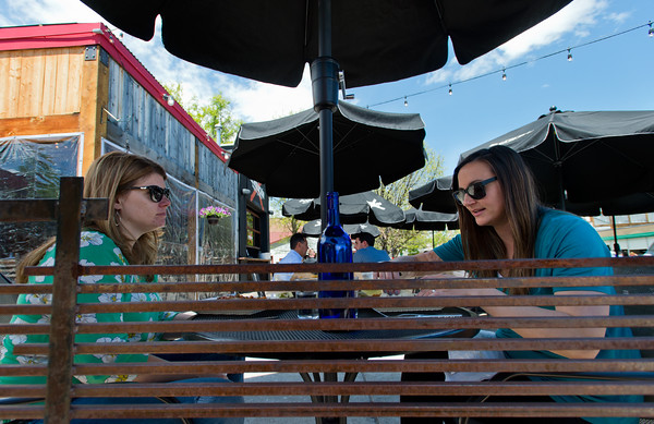 "Jeanne Dutton, left, and Evka Turpin enjoy lunch  at La Revolución Taqueria y Cantina in Louisville on Thursday.<br /> For more photos go to  <a href=""http://www.dailycamera.com"">http://www.dailycamera.com</a><br /> (Autumn Parry/Staff Photographer)<br /> May 19,2016"
