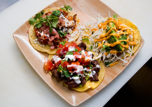 """Tacos with braised pork belly, grilled steak and red snapper fish are served at T/ACO in Boulder.<br /> For more photos go to  <a href=""""http://www.dailycamera.com"""">http://www.dailycamera.com</a><br /> (Autumn Parry/Staff Photographer)<br /> May 18, 2016"""