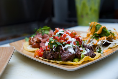 A taco with grilled steak, guacamole, pico de gallo and spicy crema served at T/ACO in Boulder. For more photos go to www.dailycamera.com (Autumn Parry/Staff Photographer) May 18, 2016