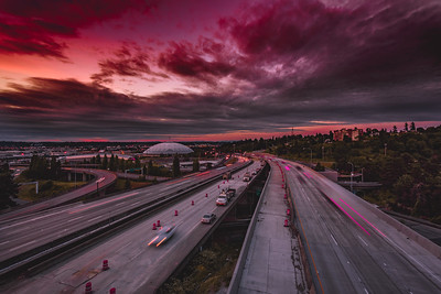 Moody Sunset in Tacoma