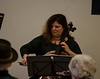 DAVID LACHANCE — BENNINGTON BANNER<br /> Cellist Elisa Kohansky performs during the Taconic Chamber Players concert at the Vermont Veterans' Home.
