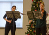 DAVID LACHANCE — BENNINGTON BANNER<br /> Violinists Joana Genova and Heather Braun perform during the Taconic Chamber Players concert at the Vermont Veterans' Home.
