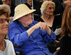 """HOLLY PELCZYNSKI- BENNINGTON BANNER Bob Martin, peacefully listens to the sounds and tones of The Taconic Chamber Players on Wednesday afternoon in the """"Freedom Village""""  at the Vermont Veterans Home which is exclusively cares for those with dementia and Alzheimer's."""