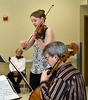 HOLLY PELCZYNSKI - BENNINGTON BANNER  Violinist Joana Genova, and Cellist Nathaniel Parke play for members of the Vermont Veterans Home on Wendesday afternoon in Bennington.