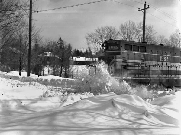 B&M snow, Holden, opening Gardner Line and return at Chaffins - TAA-B&M-025-1K