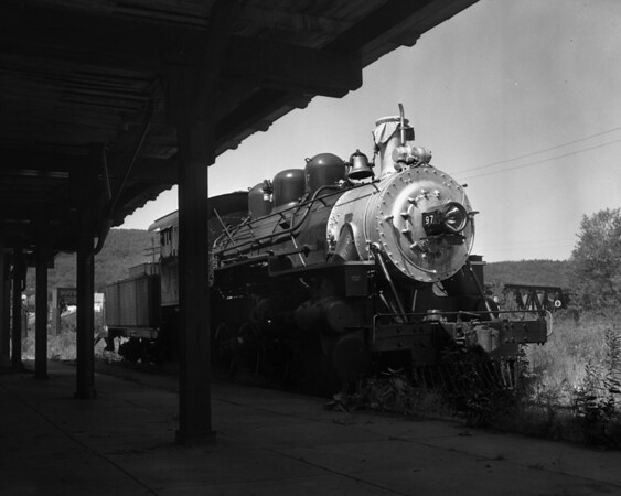 #97 at Bellows Falls Depot enroute to Valley Railroad in CT.  TAA-ST-032-2_K