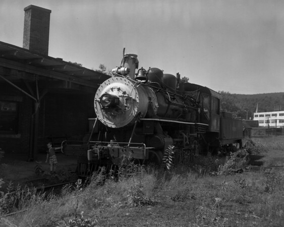 #97 at Bellows Falls Depot enroute to Valley Railroad in CT.  TAA-ST-032-1_K