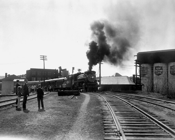 #127 on Providence to Worcester trip - climbing the wye in Worc (Powers Coal Silos).  TAA-ST-038-3_K