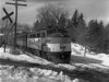B&M northbound at Burncoat St crossing - the Summit, Worcester, MA - TAA-B&M-009-3K