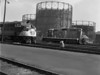 NH 2001 at Worc engine house - ASA in foreground, old gas tanks in background. - TAA-NH-007-3K