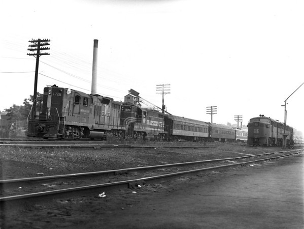 Camp Special at Worc. engine house. NH power from Providence to Worc and B&M power from Worc to Portland. - TAA-NH-008-4K