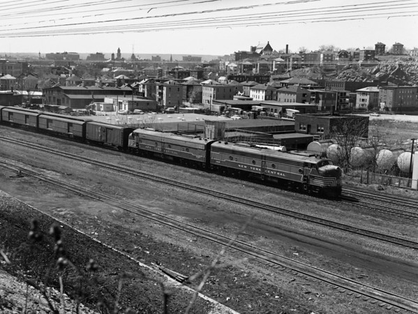 NYC-Worcester, MA Passenger & Mail Express East to Boston. Shot from Franklin St