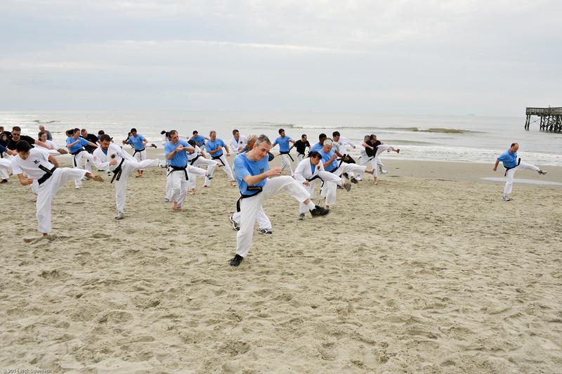 TKD 2014 IOP Black Belt Test & Beach Workout-359