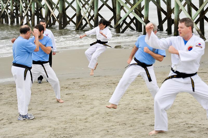 TKD 2014 IOP Black Belt Test & Beach Workout-351