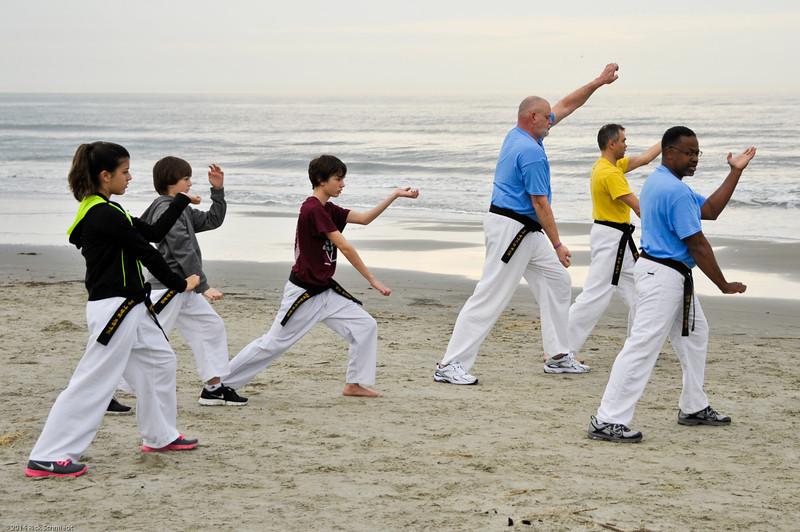 TKD 2014 IOP Black Belt Test & Beach Workout-339