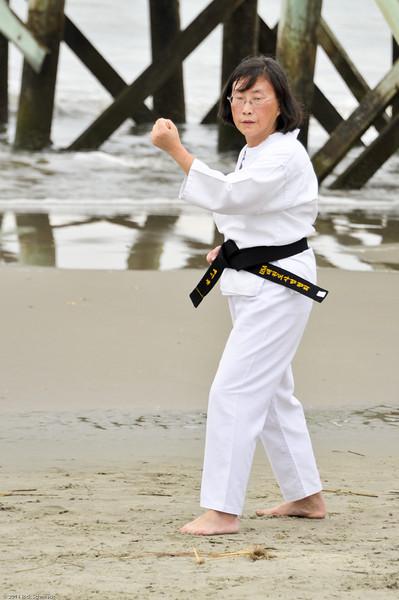 TKD 2014 IOP Black Belt Test & Beach Workout-347