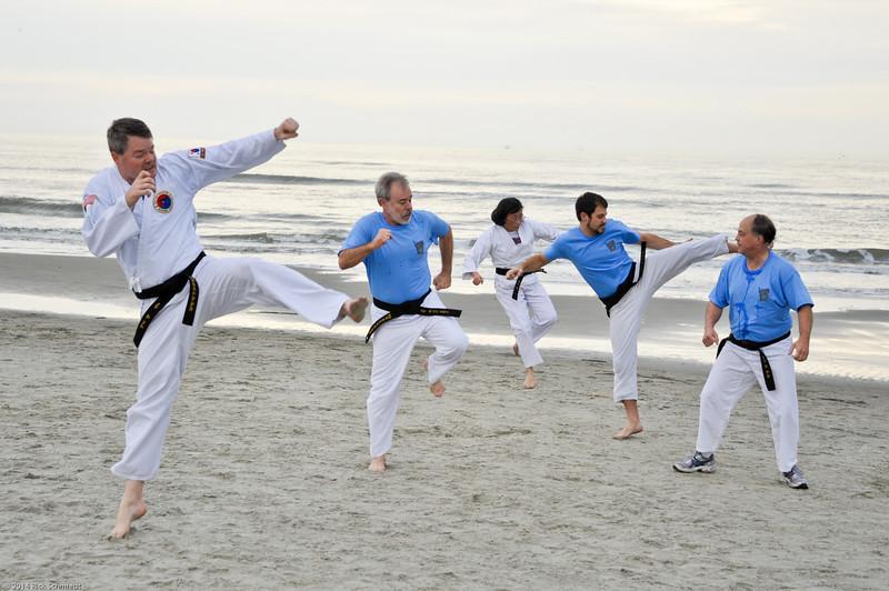 TKD 2014 IOP Black Belt Test & Beach Workout-329