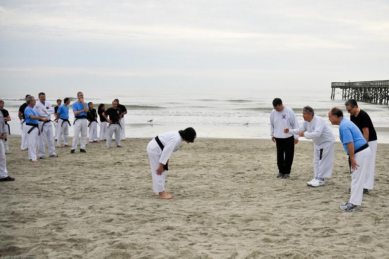 TKD 2014 IOP Black Belt Test & Beach Workout-322