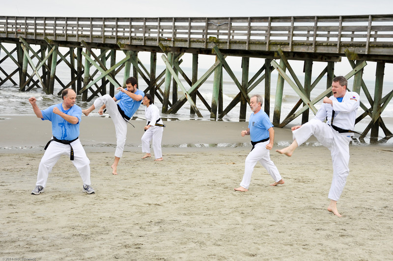 TKD 2014 IOP Black Belt Test & Beach Workout-342
