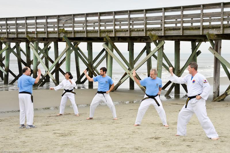 TKD 2014 IOP Black Belt Test & Beach Workout-345