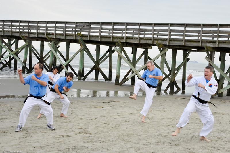 TKD 2014 IOP Black Belt Test & Beach Workout-335