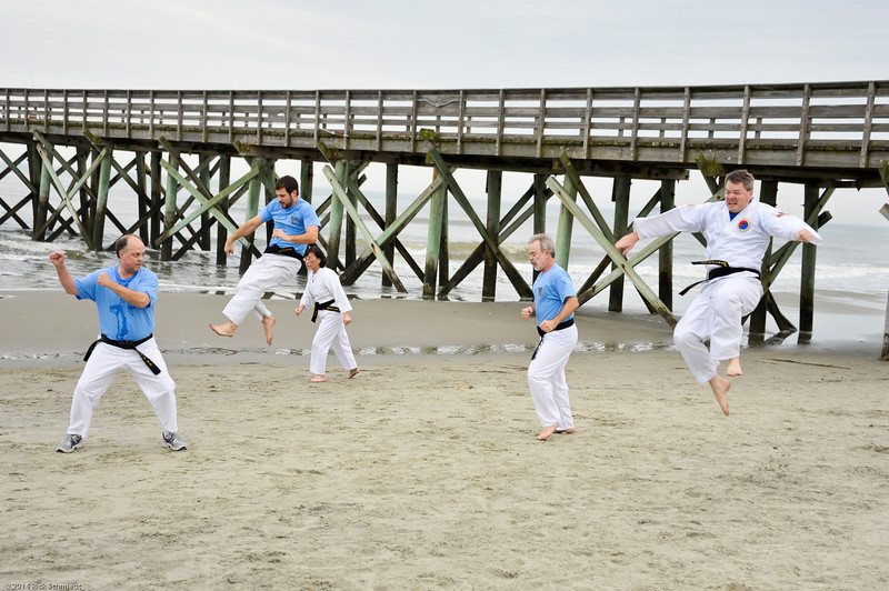 TKD 2014 IOP Black Belt Test & Beach Workout-341