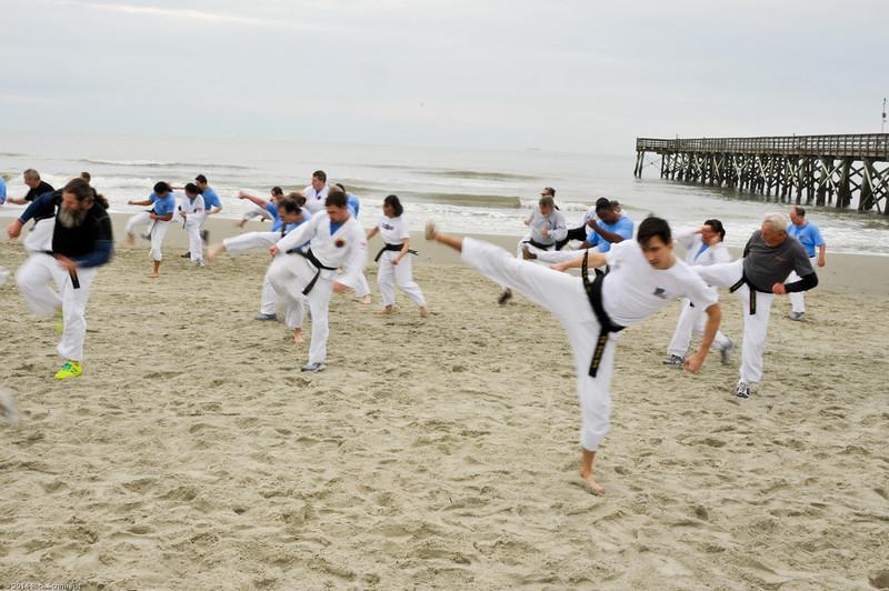 TKD 2014 IOP Black Belt Test & Beach Workout-361
