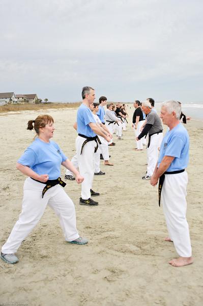 TKD 2014 IOP Black Belt Test & Beach Workout-356