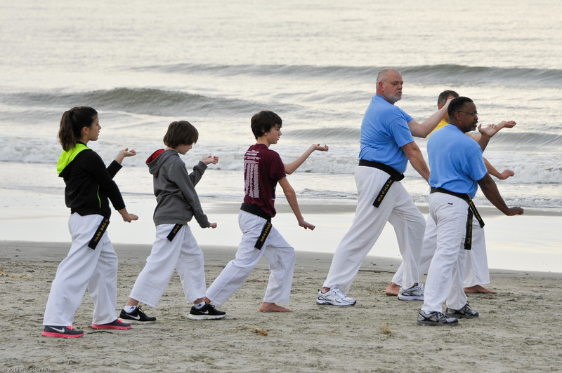 TKD 2014 IOP Black Belt Test & Beach Workout-326