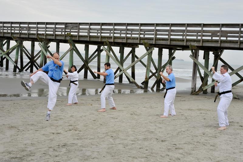 TKD 2014 IOP Black Belt Test & Beach Workout-332