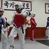 Endurance sparring with several black belts