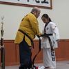 Finally earning her black belt