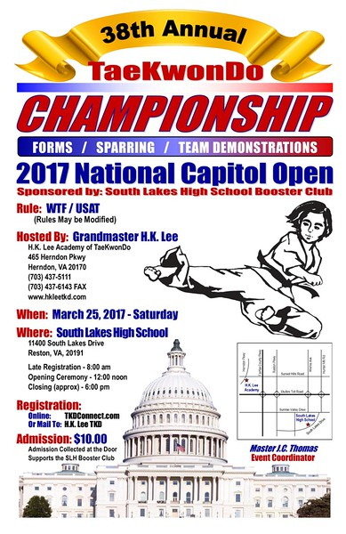 38th Annual National Capitol Open TaeKwonDo Championship
