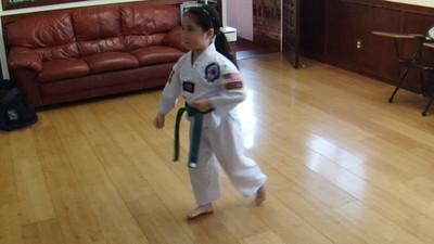 Veronica 5 Years Old doing Tae Guek 2 Jang