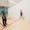 Pro Squash players work with Taft athletes