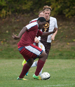 Boys' Thirds Soccer action