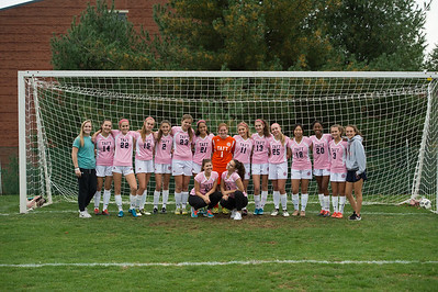 Girls' JV Soccer Pink jerseys