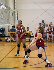 Junior Varsity Volleyball action