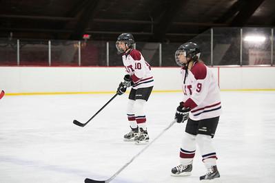 Female Faculty v Girls' Thirds Hockey