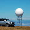 NOAA radar tower near the ocean, Ferndale