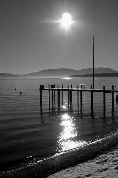 1/13/2009 McKinney Bay Sunrise B&W